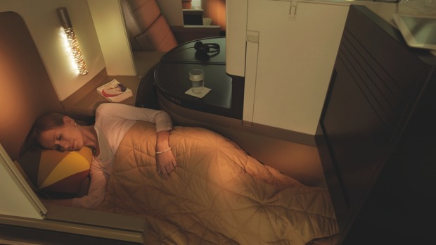 Etihad Airways Business Studio taps suite-like privacy for the business traveller.