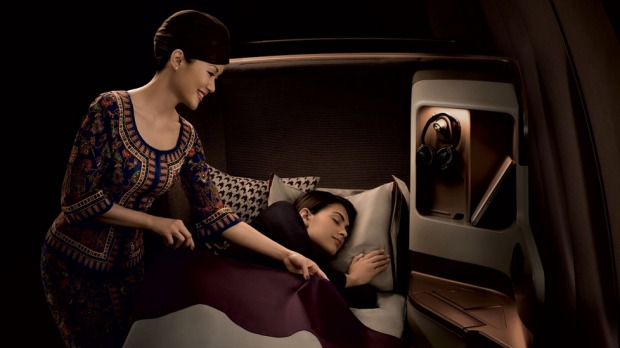 Snugly settled into Singapore Airline'€™s latest business class seat, it'€™s easy to think you'€™re the sole passenger ...