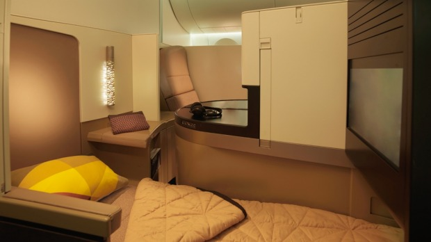 Etihad Airways€™ Business Studio taps suite-like privacy for the business traveller.