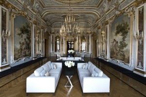 Luxury: Aman Canal Grande Venice's Piano Nobile Lounge.