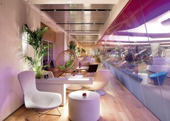 Virgin Atlantic London Clubhouse, Heathrow: The airline's flagship lounge offers a complete rock star experience. ...