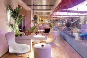 Rock star: The Virgin Atlantic Heathrow Lounge.