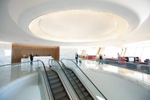 Qantas First Lounge, Sydney International Airport: The fabulous Mark Newson-designed First Lounge is a decadent ...