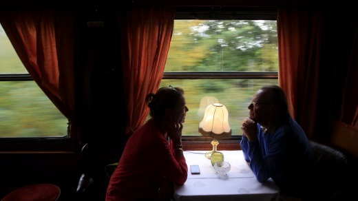 A slow train journey can be a great way to see the country if you're not in a hurry.