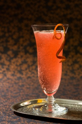 French 75: When in France head for this delicate mix of gin, lemon juice or blood orange, and sugar syrup topped with ...