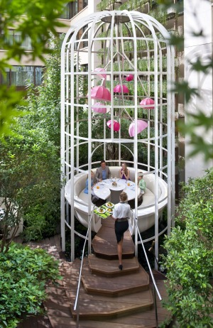 Garden glory: The Garden Table at the Mandarin Oriental in Paris.
