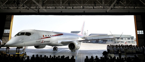 The Mitsubishi Regional Jet (MRJ) is being prepped for test flights next year.