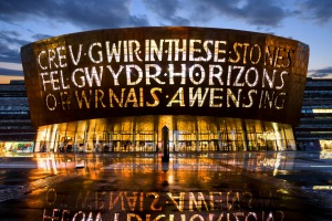 Bay watch: The Millennium Centre in Cardiff.