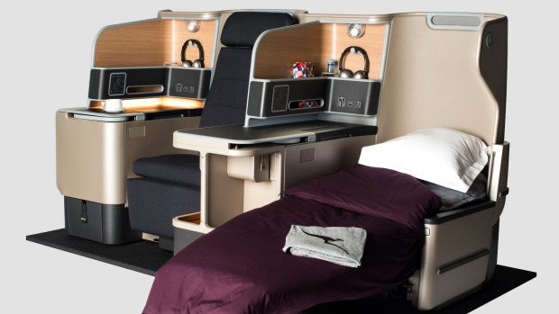The design for the new Qantas A330 business class seat.