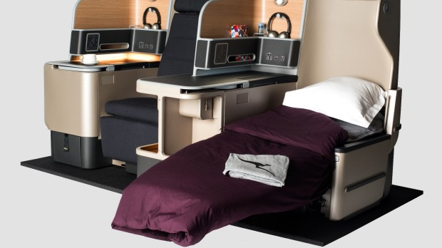 The new business class suites, with fully-flat beds, will replace Qantas' first-generation Skybed on all its A330s to Asia.
