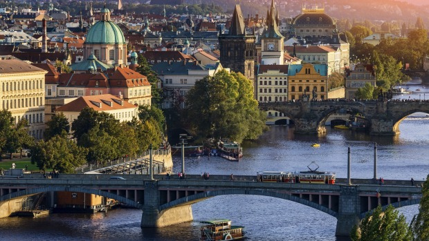 Ancient history: A view of Prague looking over the city and river.