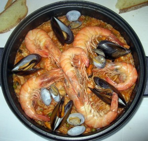 Gastro genius: A traditional Spanish paella seafood dish from Valencia.