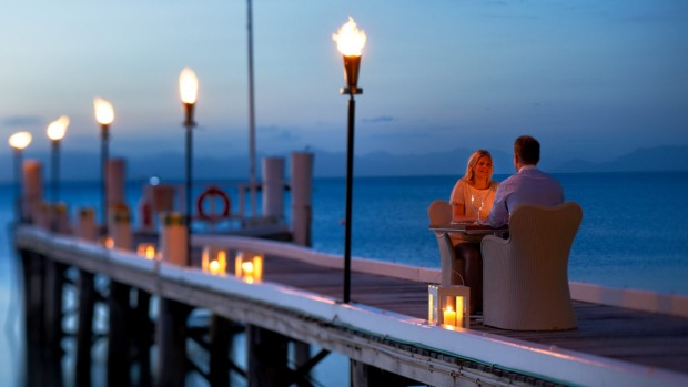 Dining on the jetty.