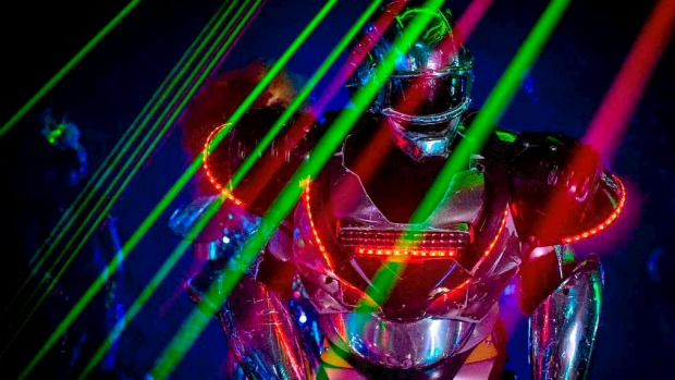A performer dressed as a Robot is seen during a show at The Robot Restaurant on Tokyo, Japan.