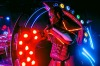 A performer dressed as a Robot is seen during a show at The Robot Restaurant in Tokyo, Japan.