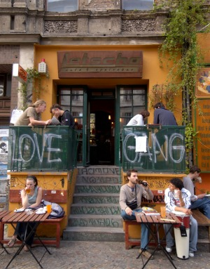 Comfortable cafe: The Bohemian cafe on Kastanienallee in Prenzlauer Berg.