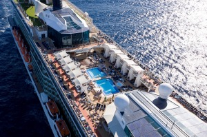 Bird's eye: Poolside paradise on the Celebrity Solstice.