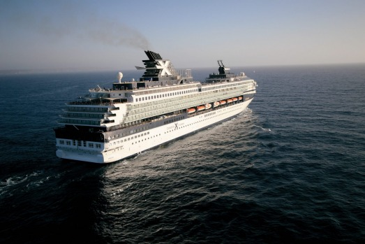 Full steam: The Celebrity Century hits the high seas.