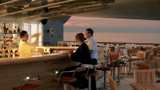 Scenic sip: A bar on the Celebrity Century.