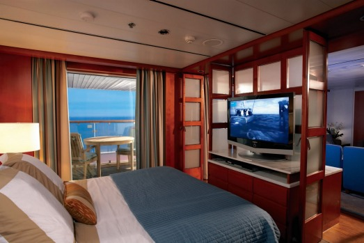 Easy living: Relax in your suite on the Celebrity Century.