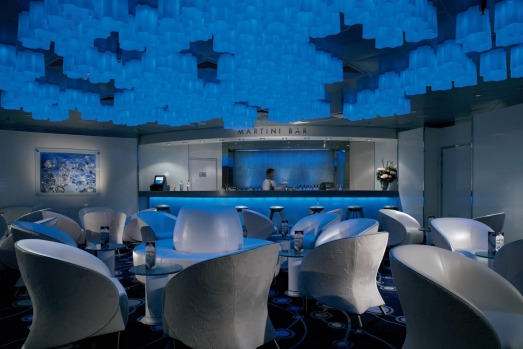 Cool welcome: The Martini Bar on the Celebrity Century.