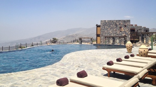 Awe-inspiring vistas: The view from the resort's swimming pool, 2000 metres above sea level, is spectacular.