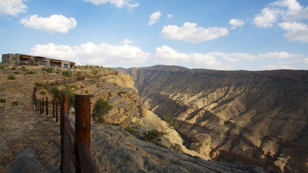 Trick of the eye: The Alila Jabal Akhdar resort looks as though it could have grown from the mountains.