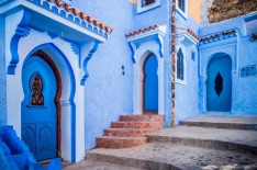 The blue medina of Chefchaouen in Morrocco