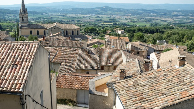 Bird's eye: St-Remy-de-Provence as seen from the rooftops.