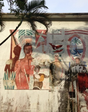 Where east and west collide: Street art  in Guam.