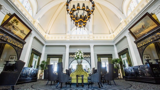 A grand welcome: The foyer known as The Casino at the Hydro Majestic Hotel in Medlow Bath.