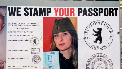 Get stamped: Checkpoint Charlie stamp from the East Side Gallery.