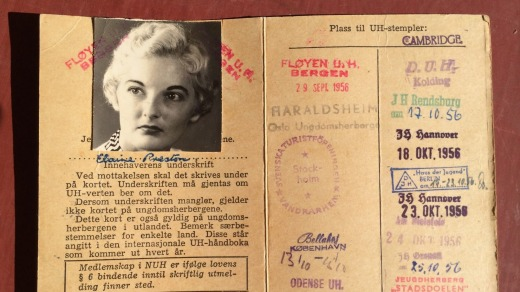 Past documented: Louise Southerden's mother's Youth Hostel card.