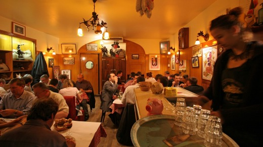 Local lore: A typical Lyon cafe.