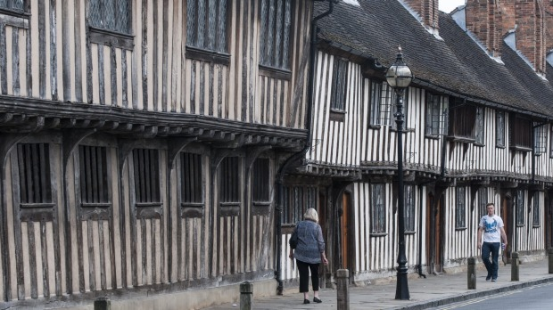 Shakespeare's old school: Stratford-Upon-Avon.