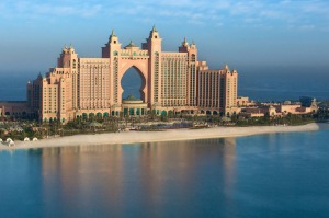 Water, eater everywhere: The Palm Atlantis is an underwater-themed resort covering 46 hectares.