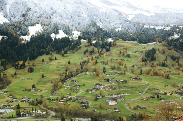 Grindelwald Valley, Switzerland: Ride the cable car from Grindelwald to First, 1100 metres above town, and you step out ...