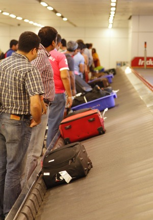 More checked bags are being properly handled.