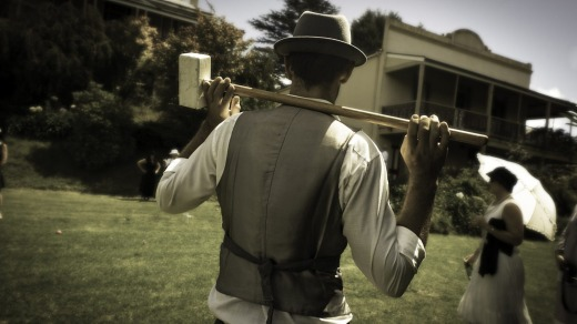 Croquet on the lawn at the Roaring 20s Festival.