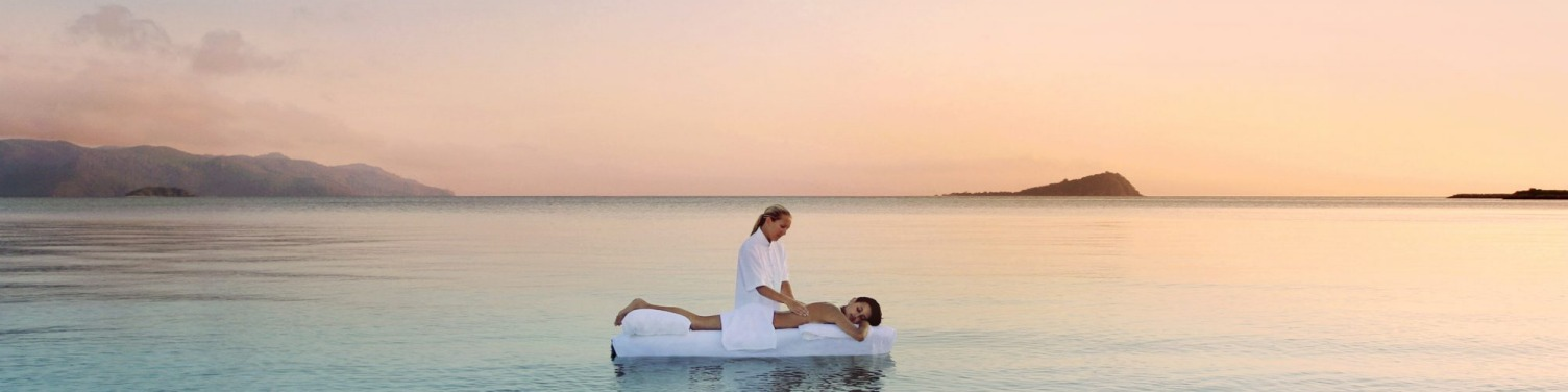 Hayman One&Only, Queensland: Nothing says extravagance like a massage bed plonked in the pristine waters of the Whitsundays, provided the tide is right and the swell calm.