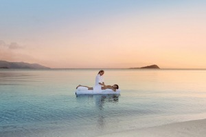 Hayman One&Only, Queensland: Nothing says extravagance like a massage bed plonked in the pristine waters of the ...