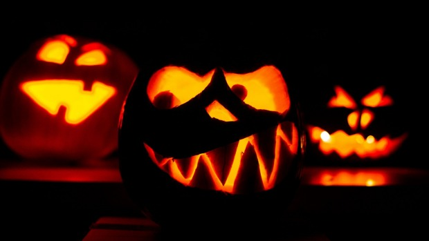 Carved pumpkins in Hanover, central Germany, ahead of Halloween.