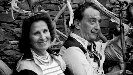 Unconventional union: Salvador Dali with his wife, Gala in 1962.
