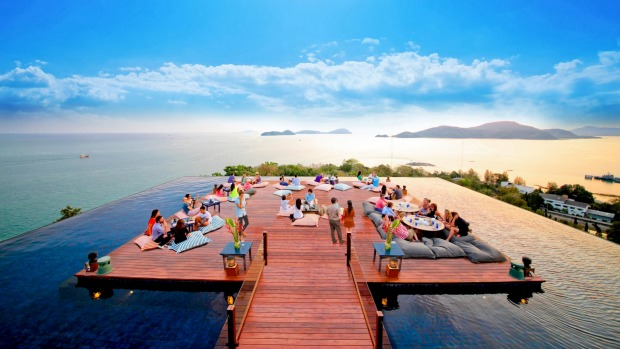 The Baba Nest exclusive rooftop bar at the Sri panwa resort.