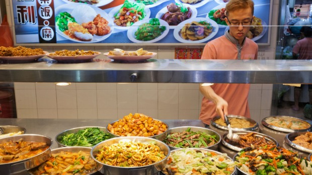 array of Singapore hawker food