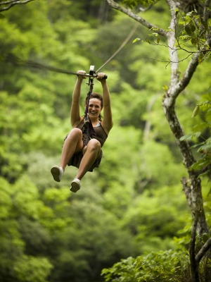 Safety choice: Zip-ling is safer than many other adventure sports.