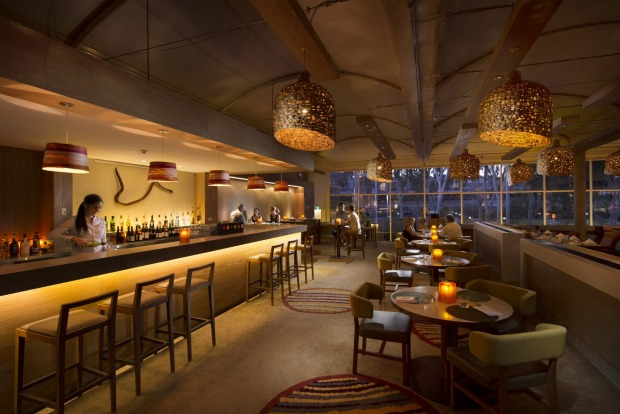 Watering hole: The bar in Sails in the Desert.