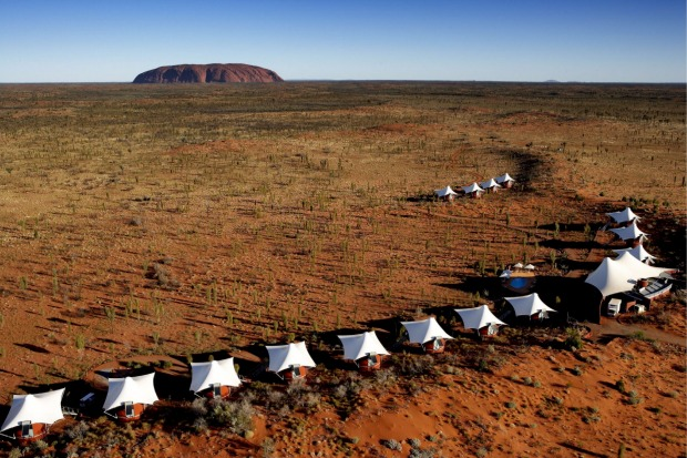 Low impact: The 'Glamping', or luxury camping, site near Uluru.