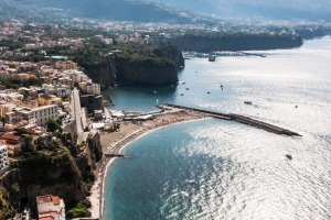 Panoramic: The Sorrento coast, Italy.
