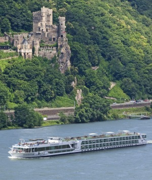 Cruising past ancient castles on the Scenic Diamond.